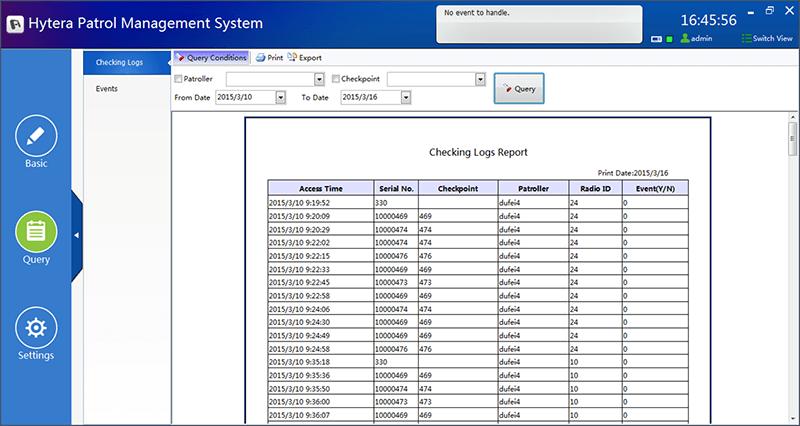 Hytera Patrol Sistemi, Hytera DMR, RFID, Bekçi Tur
